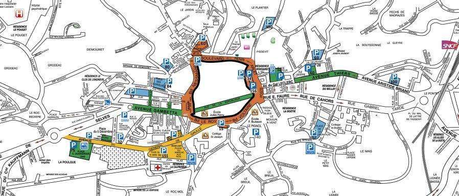 Plan Sarlat peripherie 2013
